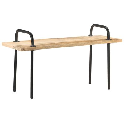 "vidaXL Bench 43.3"" Rough Mango Wood"