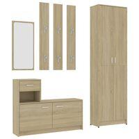 vidaXL Hallway Furniture Set Sonoma Oak Chipboard