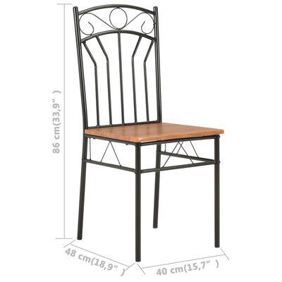 vidaXL Dining Chairs 2 pcs Brown MDF