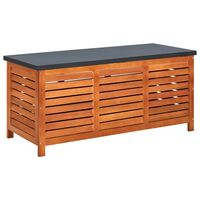 "vidaXL Garden Storage Box 46.1""x19.7""x21.7"" Solid Eucalyptus Wood"