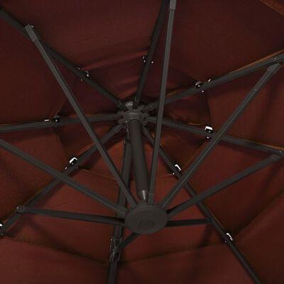 "vidaXL 4-Tier Parasol with Aluminum Pole Terracotta 118.1""x118.1"""