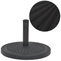 vidaXL Parasol Base Resin Round Black 63.9 lbs