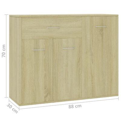 """vidaXL Sideboard Sonoma Oak 34.7""""x11.8""""x27.6"""" Chipboard"""