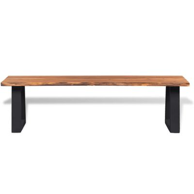 "vidaXL Bench Solid Acacia Wood 63"""