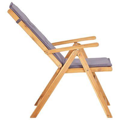 vidaXL Reclining Garden Chairs 2 pcs Brown Solid Acacia Wood