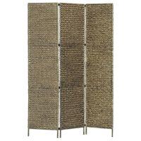 """vidaXL 3-Panel Room Divider Brown 45.7""""x63""""  Water Hyacinth"""