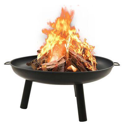 """vidaXL Fire Pit 35.8""""x32.1""""x15.7"""" Steel"""