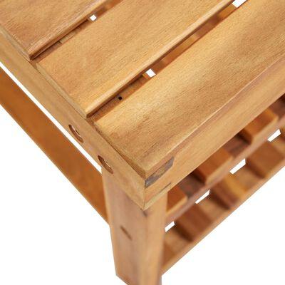"""vidaXL Shoe Rack 35.4""""x12.5""""x18.1"""" Solid Acacia Wood"""