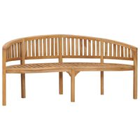 "vidaXL Banana Bench 70.9"" Solid Teak Wood"