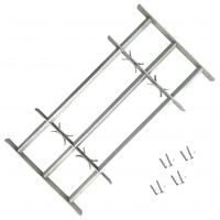 """Adjustable Security Grille for Windows with 3 Crossbars 19.7""""-25.6"""""""