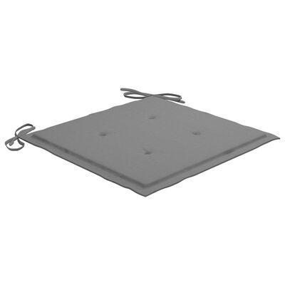"vidaXL Garden Chair Cushions 4 pcs Gray 19.7""x19.7""x1.6"" Fabric"