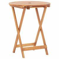 """vidaXL Folding Garden Table 23.6""""x29.5"""" Solid Acacia Wood"""