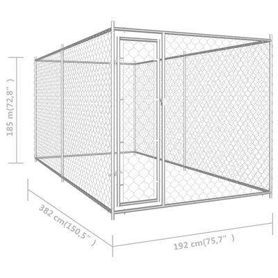 "vidaXL Outdoor Dog Kennel 150.4""x75.6""x72.8"""