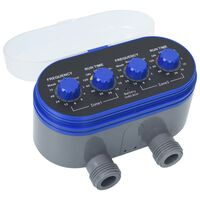 vidaXL Double Outlet Water Timer with Ball Valves
