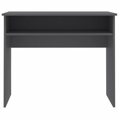 "vidaXL Desk Gray 35.4""x19.6""x29.1""Chipboard"