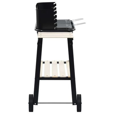 vidaXL Charcoal BBQ Stand with Wheels
