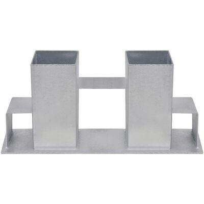 vidaXL Firewood Stacking Aids 4 pcs Steel Silver