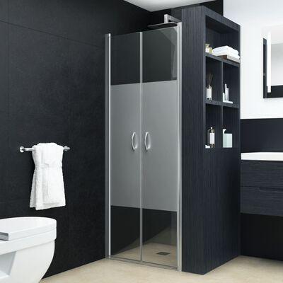 """vidaXL Shower Doors Half Frosted ESG 35.4""""x70.9"""""""
