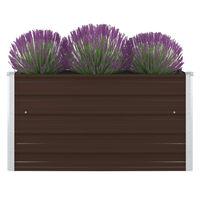 """vidaXL Raised Garden Bed 39.4""""x39.4""""x17.7"""" Galvanized Steel Brown"""