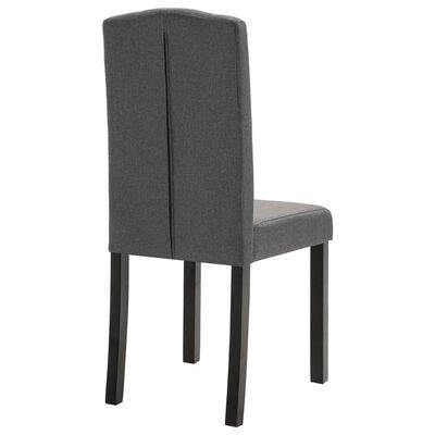 vidaXL Dining Chairs 4 pcs Dark Gray Fabric
