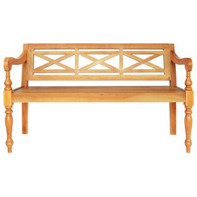 "vidaXL Batavia Bench 53.5"" Solid Mahogany Wood Light Brown"