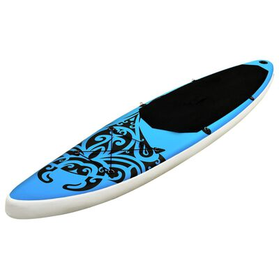 """vidaXL Inflatable Stand Up Paddleboard Set 126""""x29.9""""x5.9"""" Blue"""