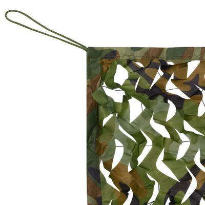 vidaXL Camouflage Net with Storage Bag 4.9'x13'