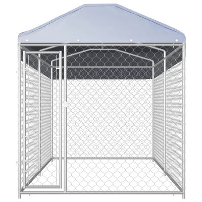 """vidaXL Outdoor Dog Kennel with Canopy Top 150.4""""x75.6""""x88.6"""""""