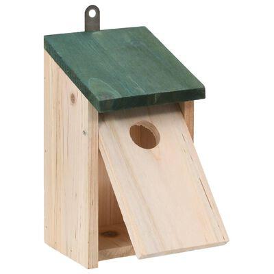 "vidaXL Bird Houses 4 pcs Wood 4.7'x4.7""x8.7"""