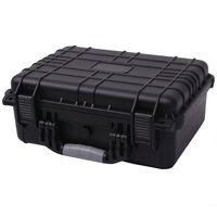 "vidaXL Protective Equipment Case 16""x13""x6.9"" Black"