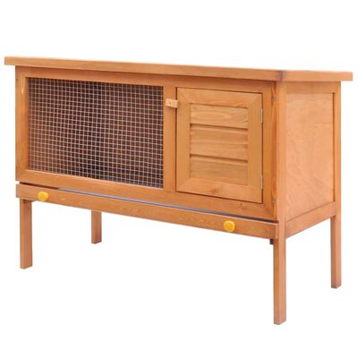 Outdoor Rabbit Hutch Small Animal House Pet Cage 1 Layer Wood