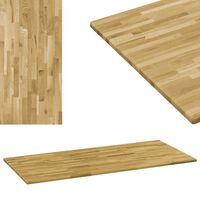 "vidaXL Table Top Solid Oak Wood Rectangular 0.9"" 55.1""x23.6"""