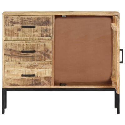 """vidaXL Sideboard 34.6""""x11.8""""x27.9"""" Solid Mango Wood"""