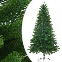 "vidaXL Faux Christmas Tree Lifelike Needles 59.1"" Green"