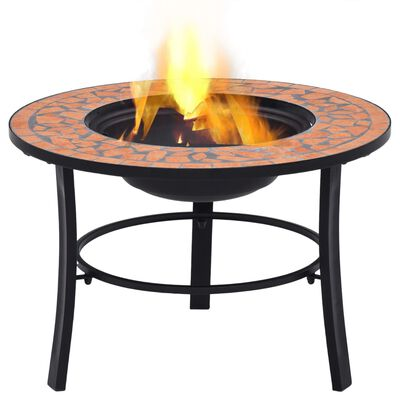 "vidaXL Mosaic Fire Pit Terracotta 26.8"" Ceramic"
