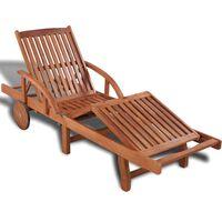 vidaXL Sun Lounger Solid Acacia Wood