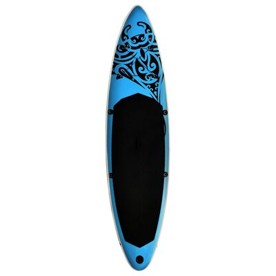 """vidaXL Inflatable Stand Up Paddleboard Set 144.1""""x29.9""""x5.9"""" Blue"""