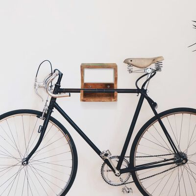 "vidaXL Wall Mounted Bicycle Rack 13.8""x9.8""x9.8"" Solid Reclaimed Wood"