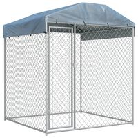 """vidaXL Outdoor Dog Kennel with Canopy Top 78.7""""x78.7""""x88.6"""""""