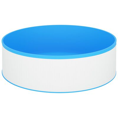 "vidaXL Splasher Pool 137.8""x35.4"" White"