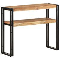 "vidaXL Console Table 35.4""x11.8""x29.5"" Solid Acacia Wood"