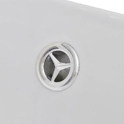 """vidaXL Luxury Ceramic Basin Oval with Overflow 23.2"""" x 15.2"""""""