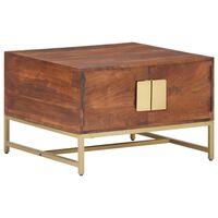 "vidaXL Coffee Table Honey Brown 26.4""x26.4""x17.7"" Solid Acacia Wood"