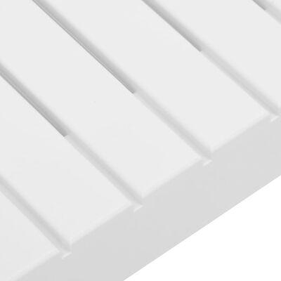 vidaXL Garden Lounge Table Plastic White