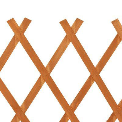 "vidaXL Garden Trellis Fence Orange 47.2""x35.4"" Solid Firwood"