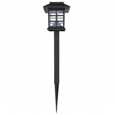 "vidaXL Outdoor Solar Lamp LED Light Set 12 pcs with Spike 3.4""x3.4""x15"""