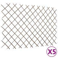"vidaXL Willow Trellis Fences 5 pcs 70.9""x47.2"""