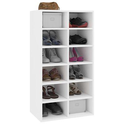 "vidaXL Shoe Rack White 21.5""x13.3""x39.3"" Chipboard"