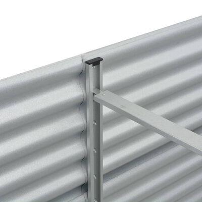 """vidaXL Garden Raised Bed 157.4""""x31.4""""x31.8"""" galvanized Steel Silver"""