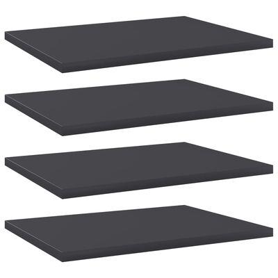 """vidaXL Bookshelf Boards 4 pcs Gray 15.7""""x11.8""""x0.6"""" Chipboard"""